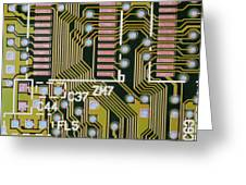 Macrophotograph Of A Circuit Board Greeting Card