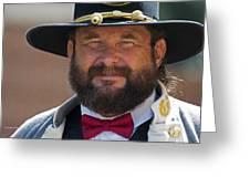 Major General L. L. Lomax Portrayed By Dan L. Carr 150th Anniversary Of The American Civil War Greeting Card