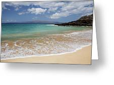 Makena Ocean And Sand Greeting Card