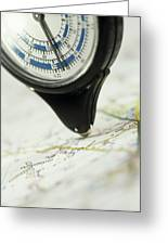 Map Wheel Greeting Card by Steve Horrell