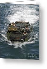 Marines Navigate An Amphibious Assault Greeting Card