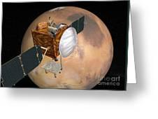 Mars Telecommunications Orbiter Greeting Card