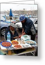Marseilles Fishermen Greeting Card