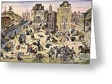 Massacre Of Huguenots Greeting Card by Granger