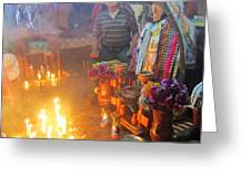 Maximon Ceremony In Guatemala Greeting Card