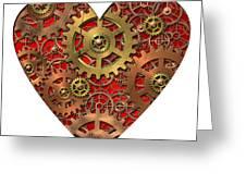 Mechanical Heart Greeting Card by Michal Boubin