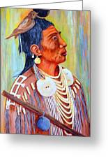 Medicine Crow-warrior Greeting Card by Janna Columbus