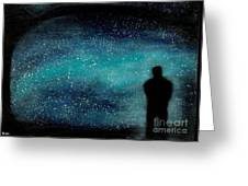 Meditation Under The Stars Greeting Card by NARI - Mother Earth Spirit