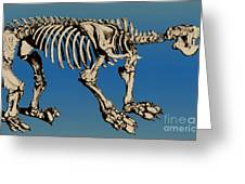 Megatherium Extinct Ground Sloth Greeting Card
