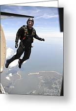 Member Of The U.s. Army Golden Knights Greeting Card