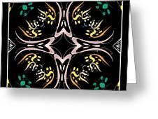 Metallic Flourishes Warp 2 Greeting Card