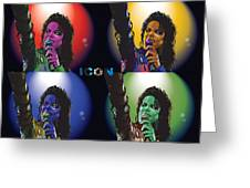Michael Jackson Icon4 Greeting Card