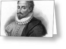 Miguel De Cervantes, Spanish Author Greeting Card