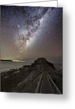 Milky Way Over Cape Schanck, Australia Greeting Card