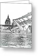 Millenium Bridge And St Pauls Greeting Card