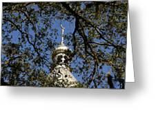 Minaret Through Oak Greeting Card