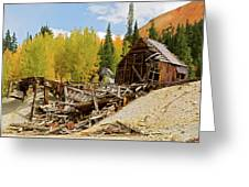 Mining Ruins Greeting Card
