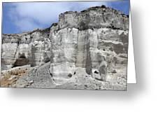 Minoan Eruption Deposits, Mavromatis Greeting Card