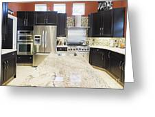 Modern Kitchen Interior Greeting Card by Skip Nall