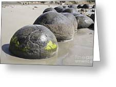 Moeraki Boulders, Koekohe Beach, New Greeting Card