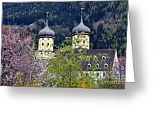 Monastery In Tyrol Greeting Card