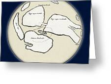 Moon Map By William Gilbert, 1603 Greeting Card by Science Source