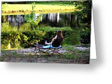 Morning By The Pond Greeting Card