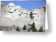 Mount Rushmore National Memorial, South Greeting Card