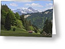Mountain Landscape In The Alps Greeting Card