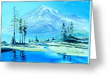 Mt. Rainier Greeting Card by Stefon Marc Brown