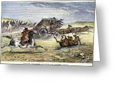 Native American Attack On Coach Greeting Card