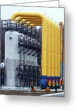Natural Gas Compressor Station Greeting Card