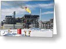 Natural Gas Liquefaction Plant Greeting Card