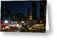 Navy Pier At Night Greeting Card