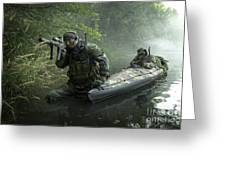 Navy Seals Navigate The Waters Greeting Card