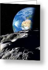 Near-earth Asteroid, Artwork Greeting Card by Detlev Van Ravenswaay