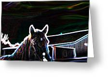 Neon Horse Greeting Card