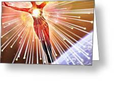Neutrinos, Conceptual Image Greeting Card