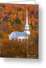 New England Church In Autumn Greeting Card
