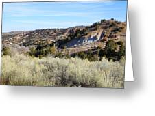 New Mexico Series - A View Of The Land Greeting Card