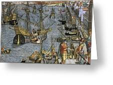 New World: Voyage, 1592 Greeting Card