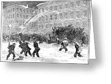 New York: Snowstorm, 1867 Greeting Card