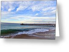 Newport Beach Pier Greeting Card by Paul Velgos