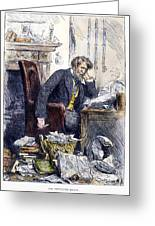 Newspaper Editor, 1880 Greeting Card