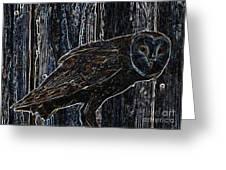 Night Owl - Digital Art Greeting Card