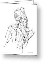 Nude Male Sketches 3 Greeting Card