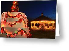 Oakham Massachusetts 250th Anniversary Holiday Lights Greeting Card
