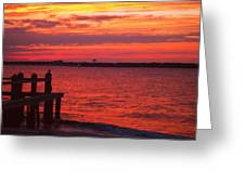 Ocean City Sunset Greeting Card