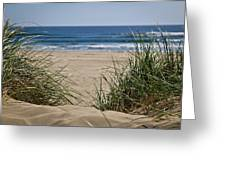 Ocean View With Sand Greeting Card