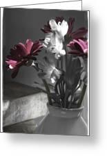 Pink Gerbera Floral Still Life Greeting Card
